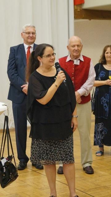Begrüssung der Gäste beim Galadinner - Astrid Probst